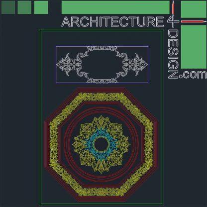 Arabesque designs DWG