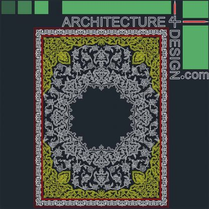 Persian carpet pattern Autocad DWG