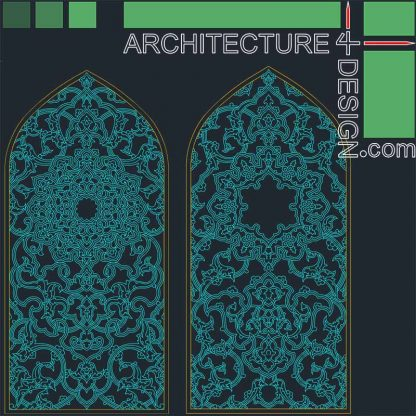 arabesque traceries as Autocad DWG drawings