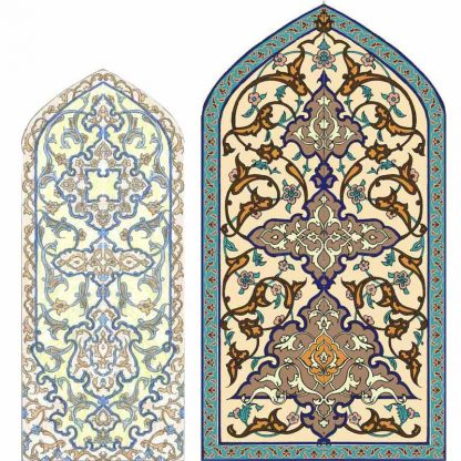 Design and draw arabesque motifs