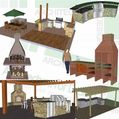 barbecue SketchUp 3D designs