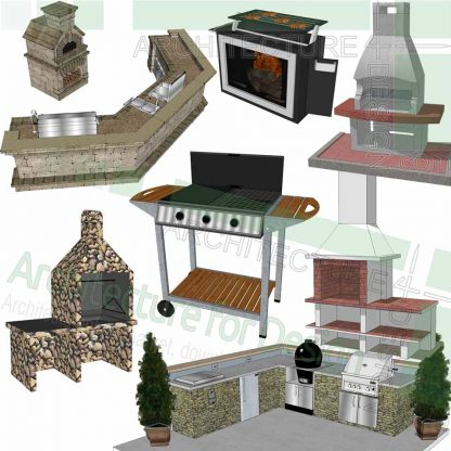 barbecue SketchUp models