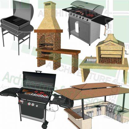 barbecue SketchUp models