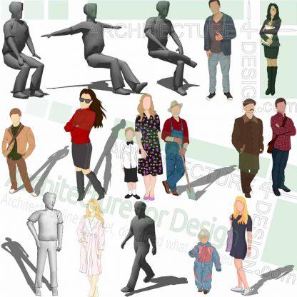 human figure SketchUp models