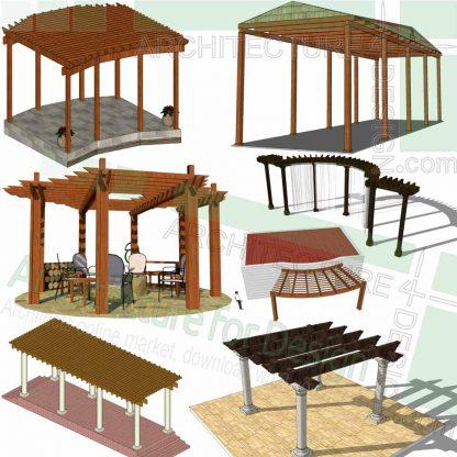Pergola 3D models in Sketchup