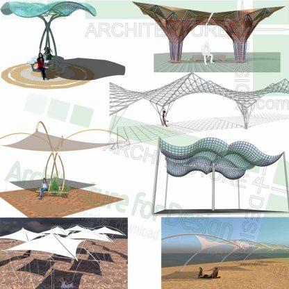Canopy designs, SketchUp 3D models