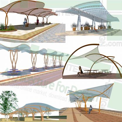 canopy and shelter Sketchup 3D models