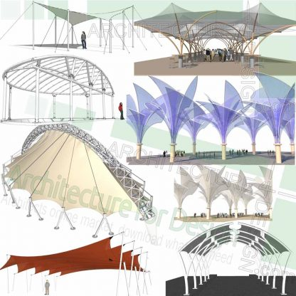 Canopy 3D designs, SketchUp models