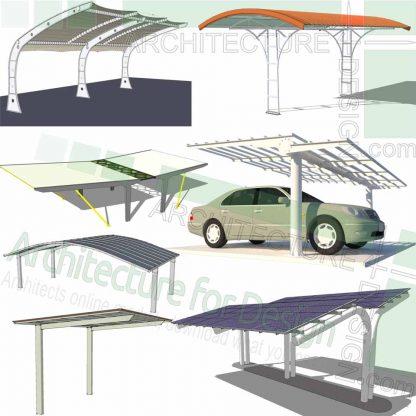 SketchUp car shelter 3D models