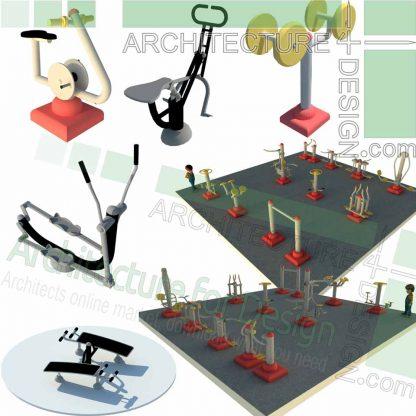 outdoor sport equipment SketchUp models