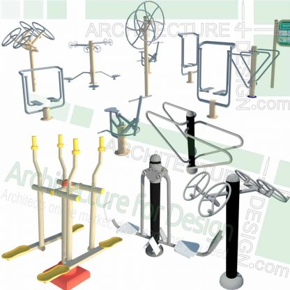 playground sport equipment sketchup models