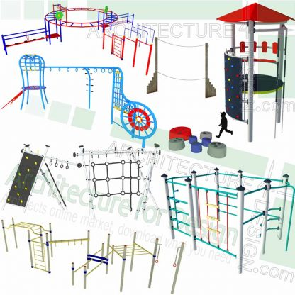 playground climber equipment SketchUp models