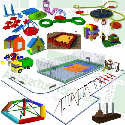 playground equipment sketchup models