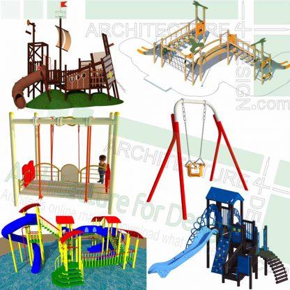 SketchUp models of playground slides