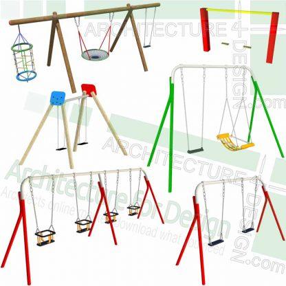 sketchup models of playground swings