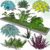 Shrubs and garden bush SketchUp models
