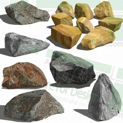 Rock 3D models for SketchUp
