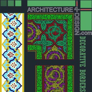 Decorative borders designs, Autocad DWG