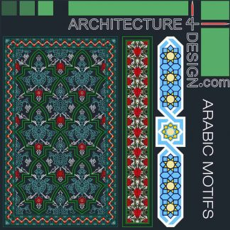 Arabic decorative motifs in Autocad