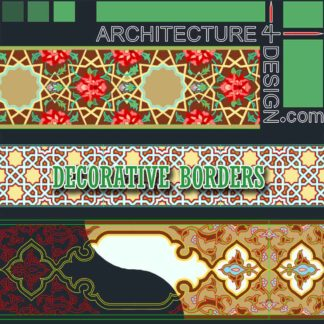 tiling border designs (Autocad DWG)