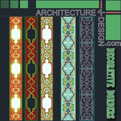 tiling border designs (Autocad DWG)